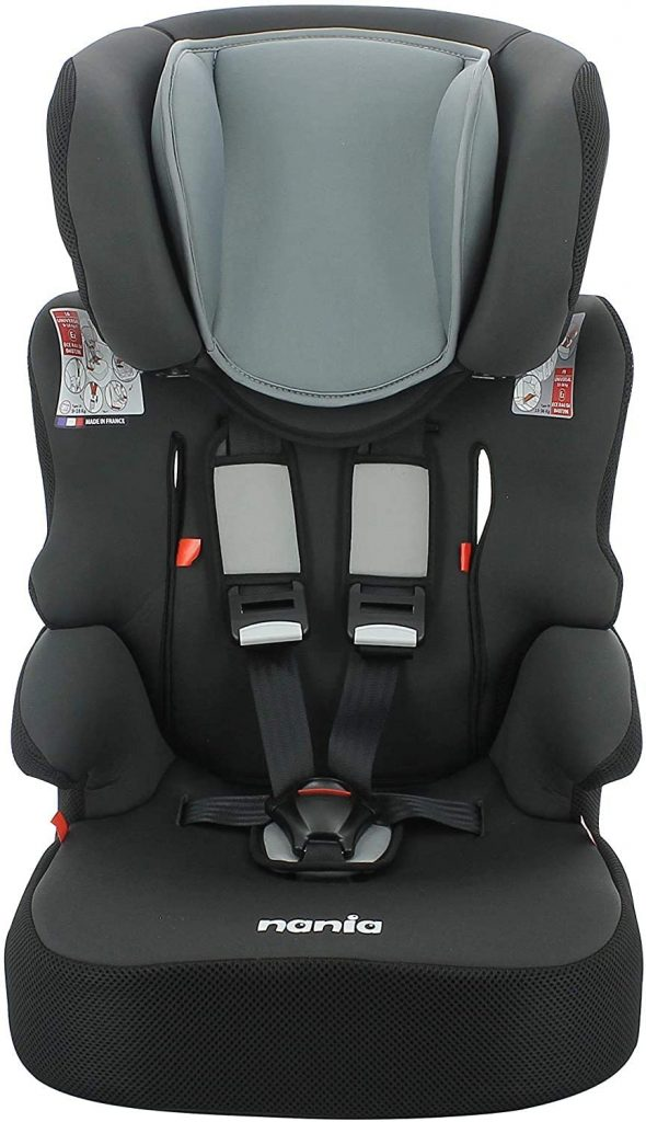 Le siège auto Nania Beline convient dès 9 kilos.