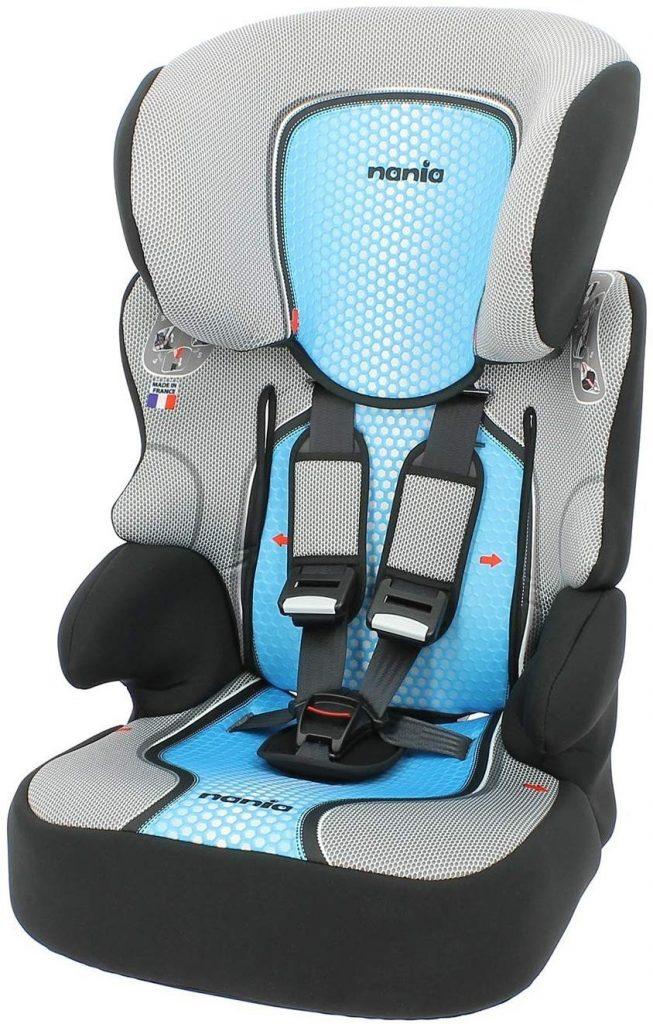 Le siège auto Nania pas cher 123 devient un rehausseur pour enfant.